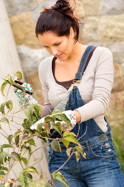 Young woman pruning Stock photo © CandyboxPhoto