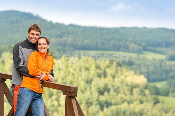 любящий пару романтические летнее время уик-энд холме Сток-фото © CandyboxPhoto