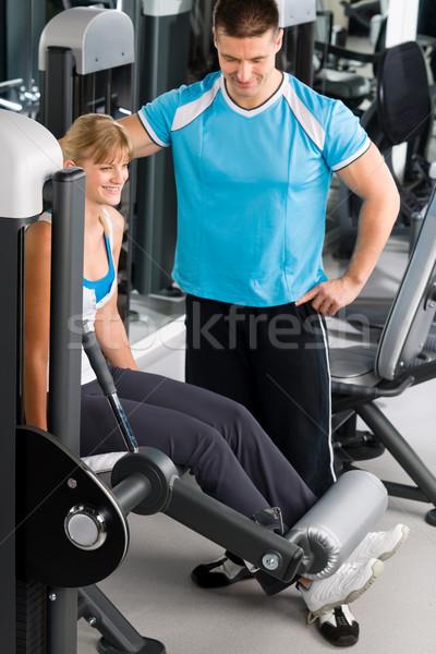 Личный тренер спортзал посмотреть осуществлять диаграммы Сток-фото © CandyboxPhoto