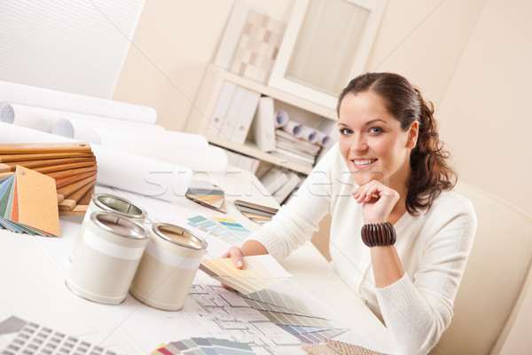 Young female interior designer at office Stock photo © CandyboxPhoto