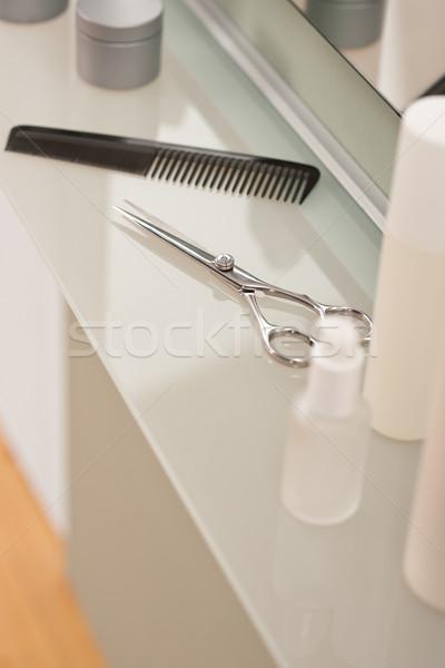 Profissional cabeleireiro salão pente tesoura raso Foto stock © CandyboxPhoto