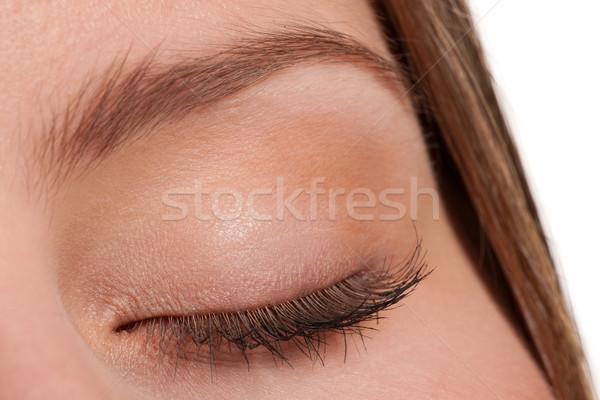Primer plano mujer ojo largo macro Foto stock © CandyboxPhoto