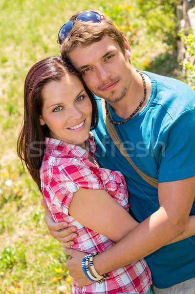 Happy affectionate young couple hugging in park  Stock photo © CandyboxPhoto