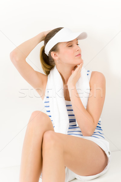 Sport - young woman in summer fitness outfit Stock photo © CandyboxPhoto