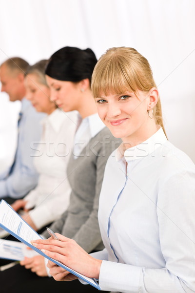 Interview business people waiting study report Stock photo © CandyboxPhoto