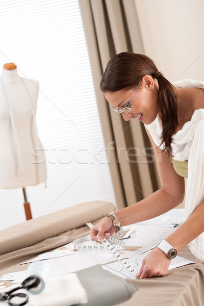 Stock photo: Fashion designer working at studio