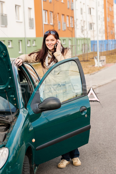Woman on the phone for car help Stock photo © CandyboxPhoto