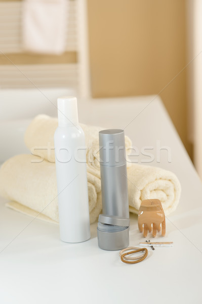 Hair care products and towels close-up  Stock photo © CandyboxPhoto