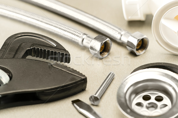 Variedade encanamento metal ferramenta parafuso Foto stock © CandyboxPhoto
