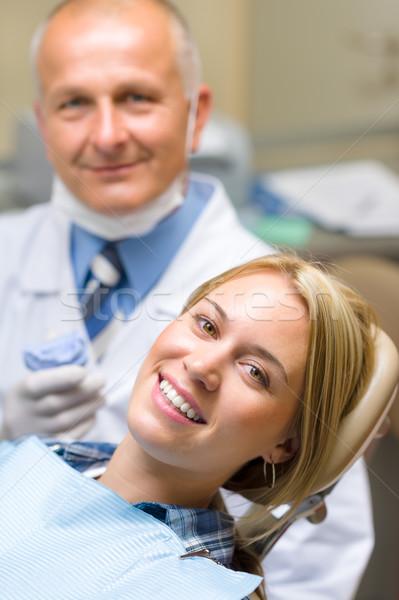 Egészséges beteg fogorvosi rendelő fogak mosoly orvos Stock fotó © CandyboxPhoto