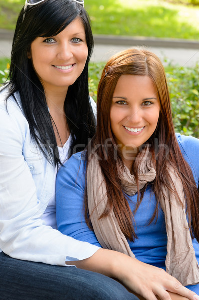 Mother and daughter spending free time outdoors Stock photo © CandyboxPhoto