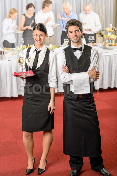 Catering service waiter, waitress business event Stock photo © CandyboxPhoto
