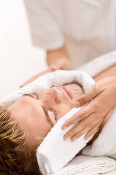 Maschio cosmetici lusso trattamento termale mani faccia Foto d'archivio © CandyboxPhoto