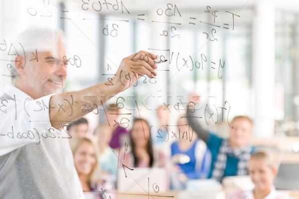 Matematik ders lise Öğrenciler profesör sınıf Stok fotoğraf © CandyboxPhoto