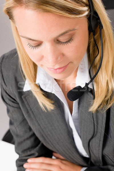 Customer service woman call operator phone headset Stock photo © CandyboxPhoto
