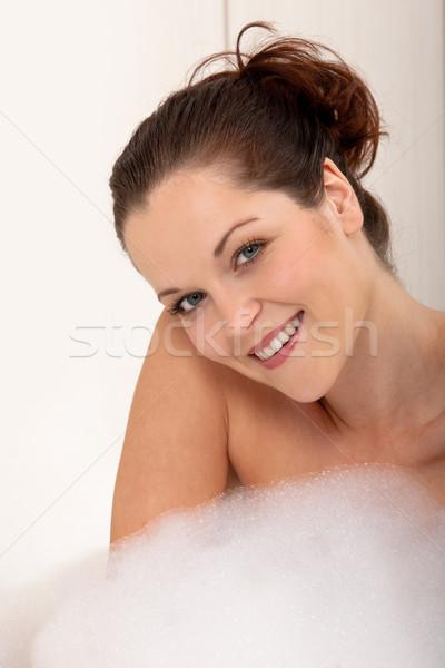 ボディ ケア 若い女性 バスタブ 泡 バス ストックフォト © CandyboxPhoto