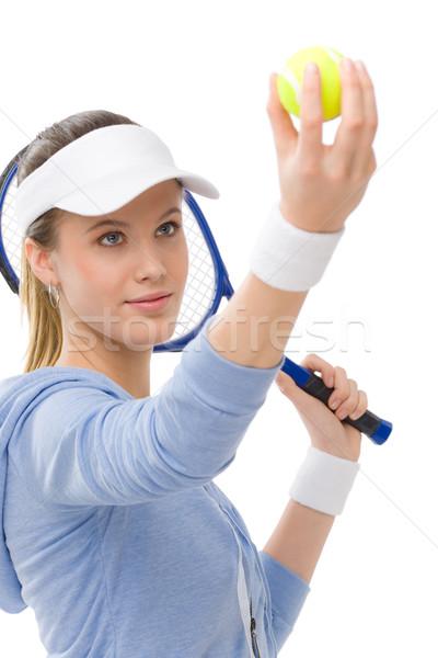 Stok fotoğraf: Genç · kadın · uygunluk · spor