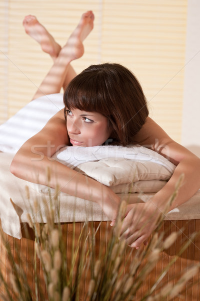 Stock photo: Spa - Young relaxed woman at wellness therapy