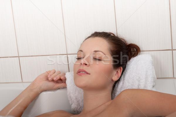 Corpo care donna vasca da bagno bella Foto d'archivio © CandyboxPhoto