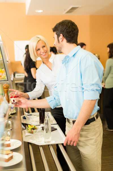 Business colleagues at cafeteria chatting Stock photo © CandyboxPhoto