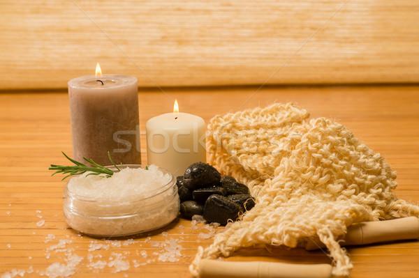 Massage skin care scrub and salt  Stock photo © CandyboxPhoto