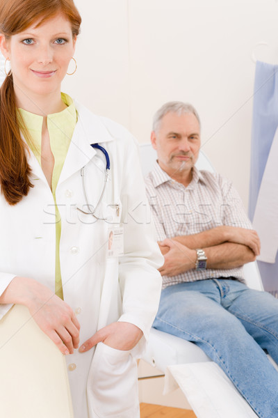 Doctor office - portrait female physician patient Stock photo © CandyboxPhoto