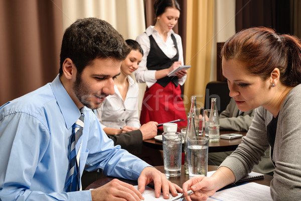 Business meeting people dealing at restaurant  Stock photo © CandyboxPhoto