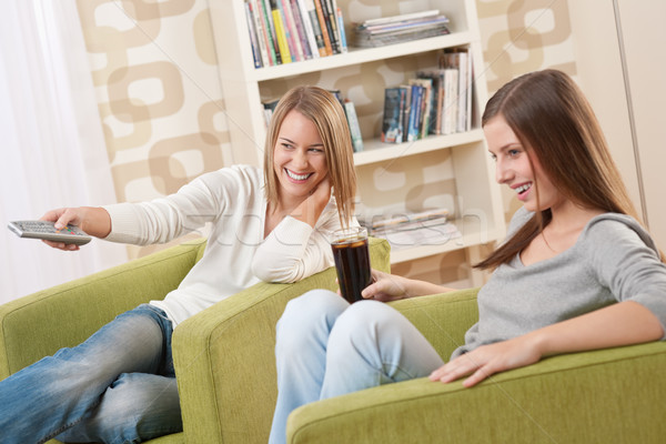 Students - Two female student relaxing home Stock photo © CandyboxPhoto