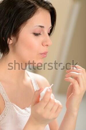 Adulto mulher unha polonês menina saúde Foto stock © CandyboxPhoto