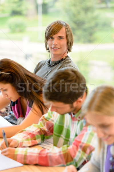 High-school students at lesson in class teens Stock photo © CandyboxPhoto