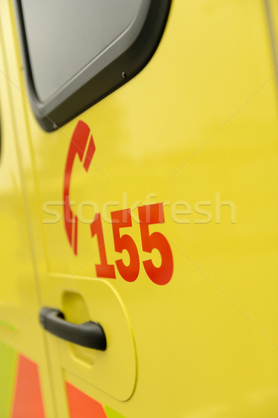Rescue team's telephone number yellow ambulance car Stock photo © CandyboxPhoto