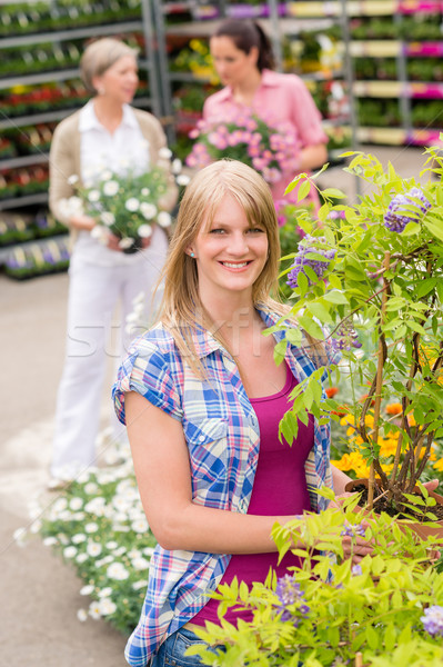 Woman hold tree plant at garden center Stock photo © CandyboxPhoto