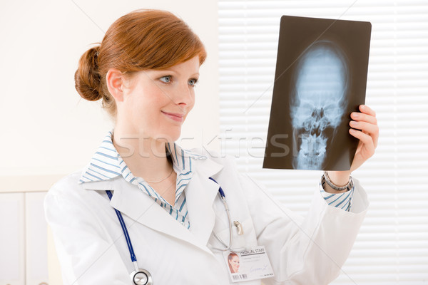 Doctor office - portrait female physician x-ray Stock photo © CandyboxPhoto