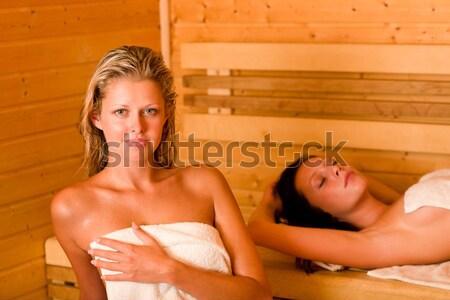 расслабиться Spa бассейна два гол женщины Сток-фото © CandyboxPhoto