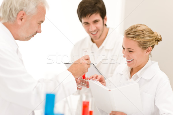 Team of scientists in laboratory - medical research Stock photo © CandyboxPhoto