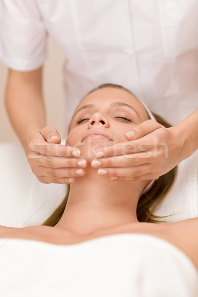 Wellness skin care - woman in salon Stock photo © CandyboxPhoto