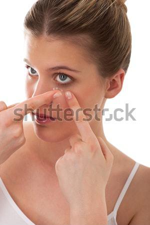 тело ухода контактная линза белый Сток-фото © CandyboxPhoto