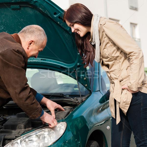 Adam çalışma tamir araba sorun kırık Stok fotoğraf © CandyboxPhoto