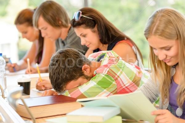 High-school student falling asleep in class teens Stock photo © CandyboxPhoto
