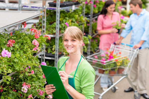 Florist at garden centre retail inventory Stock photo © CandyboxPhoto