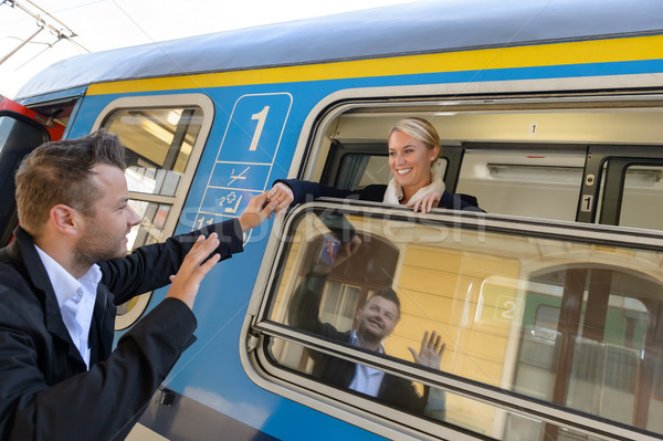 Man saying goodbye to woman on train Stock photo © CandyboxPhoto