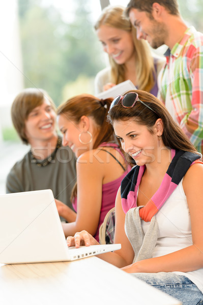 High-school study group learning in library class Stock photo © CandyboxPhoto