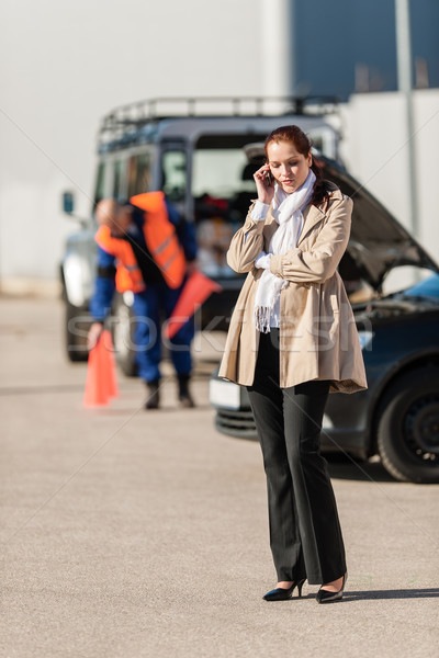 Woman on the phone after car breakdown Stock photo © CandyboxPhoto