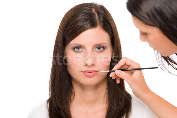 Professional makeup model woman apply  lipstick Stock photo © CandyboxPhoto