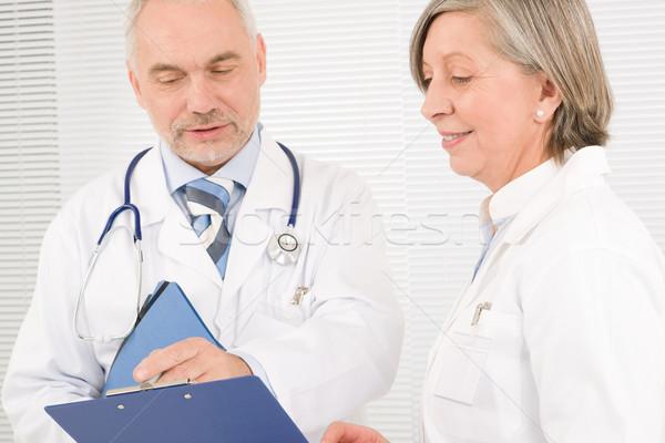Medici medico squadra anziani sorridere tenere Foto d'archivio © CandyboxPhoto