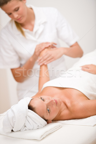 Body care - woman hand massage Stock photo © CandyboxPhoto