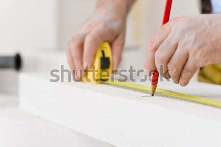 Mejoras para el hogar manitas medida ladrillo taller herramienta Foto stock © CandyboxPhoto