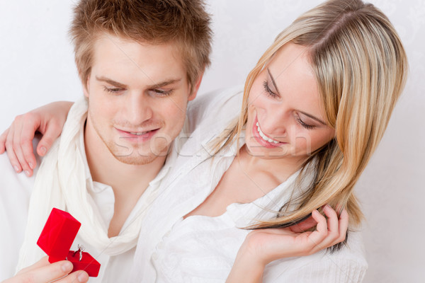 Couple amour romantique bague de fiançailles femme homme Photo stock © CandyboxPhoto
