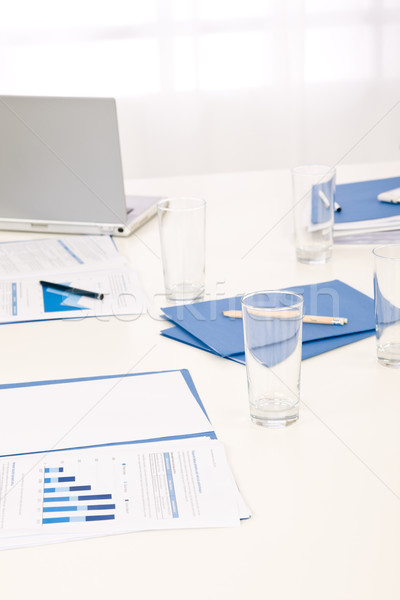 Office supply on table before business meeting Stock photo © CandyboxPhoto