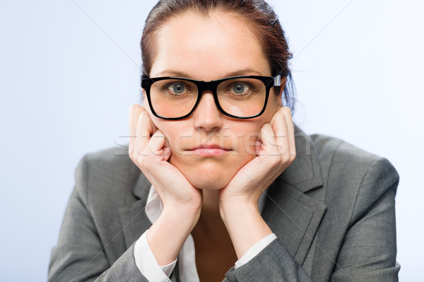 Tedious job woman bored at work  Stock photo © CandyboxPhoto